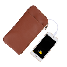 Smart Product Custom Wallet Men Business Card Holder Power Bank Custom Leather Men's Wallet