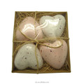 100g heart shape rose skin whitening bath bomb for spa
