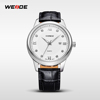 WEIDE Luxury Men's Quartz Genuine Cuff Leather Watch