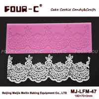 FOUR-C Lace Mould Silicone Cake Mold Cake Decoration
