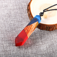 Solid Wood Resin Necklace Resin Wood