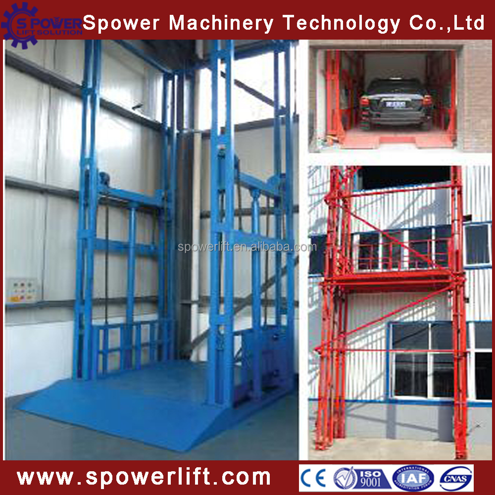 CE portable warehouse hydraulic cargo lift price for goods lift freight used cargo elevator