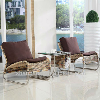 New Trendy Designer Wicker Leisure Chair Set