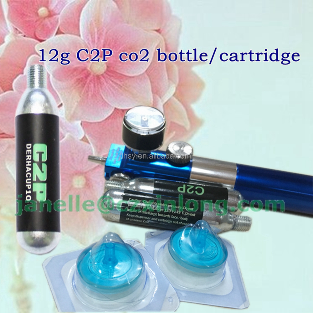 2017 best quality c2p bottle co2 12g for CDT carboxytherapy device