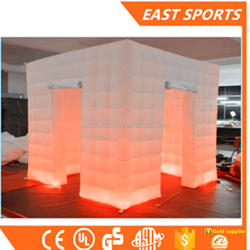 2door led inflatable photo booth shell /inflatable LED photo booth enclosure