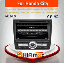 HIFIMAX Android 4.4.4 touch screen car radio gps for Honda City car radio system for Honda City navigation