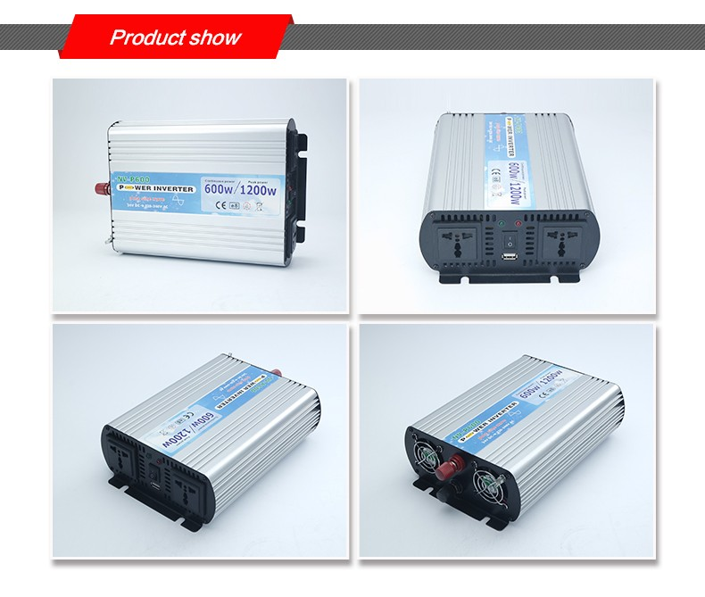600W off grid dc to ac pure sine wave power inverter
