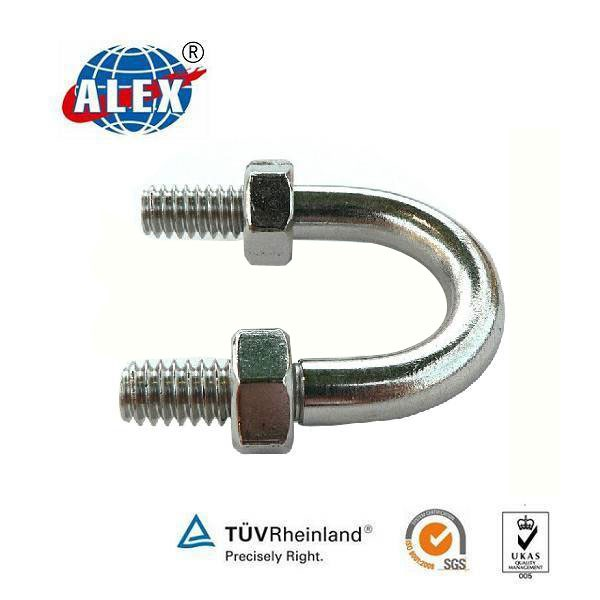 35# Galvanized U Bolt Industry Construction Material , Alloy steel U Bolt, railroad parts U Bolt