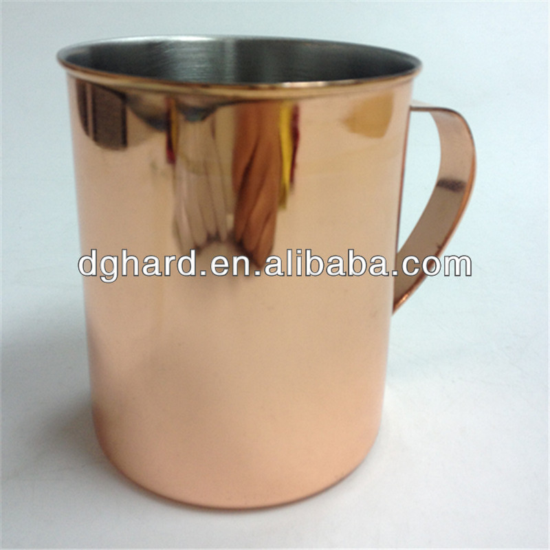 High Quality Stainless Steel coffee cup with copper coating