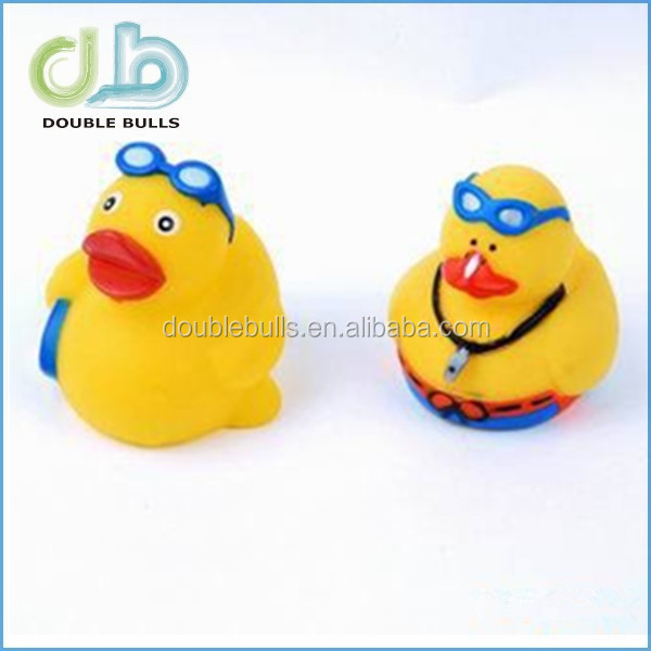 customized floating eco-friendly plastic duck in bath toy animal
