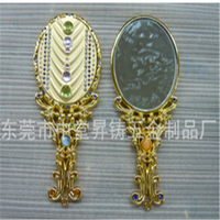 2016 Wedding Souvenir Suit Antique Compact Makeup Mirror Set Magic Hand Mirror