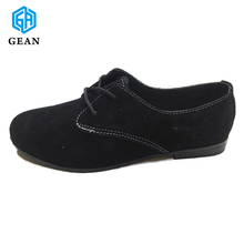 Suede Leather Lace Style Fashion Ladies Shoes In China Wholesale China Flat Shoe