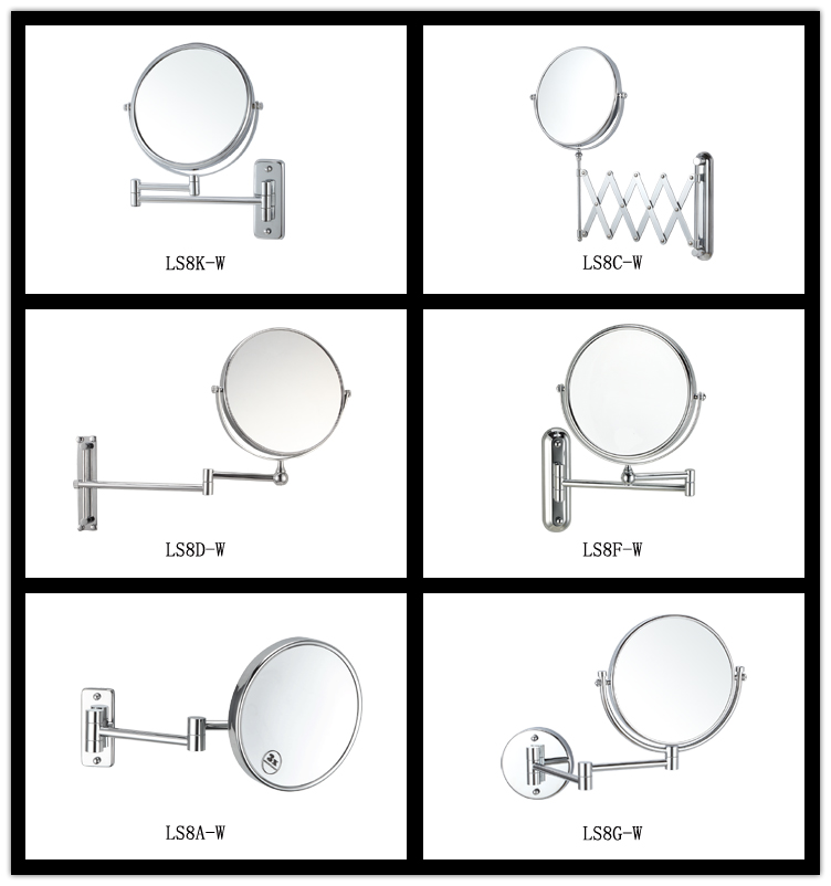 factory supply magnifying wall mounted shaving mirror