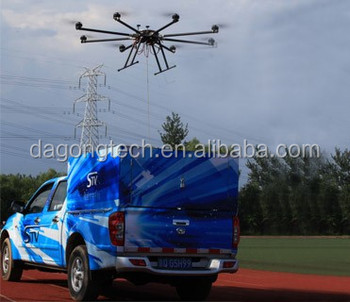 Tethered uav system for surveillance , security,communication relay.