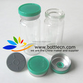 3ml 10ml pharmaceutical clear glass bottles with flip cap stopper