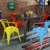 Bar stool supplier , industrial armrest stackable metal bar stool