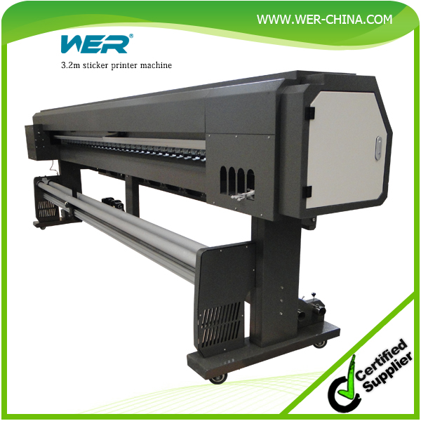 Hot sale WER-ES3202I 3.2m dx7 large format eco-solvent printer for pvc flex banner printing machine