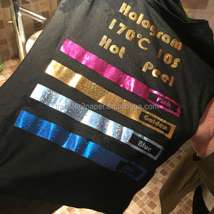 neon heat transfer vinyl for t shirts heat vinyl of washable and soft stretch feeling of HOLOGRAM