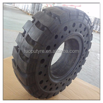 Good quality TOPOWER brand tyre 6.50-10/5.00 forklift solid tyre