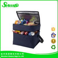 High quality polyester aluminium foil two compartment cooler bags for picnic