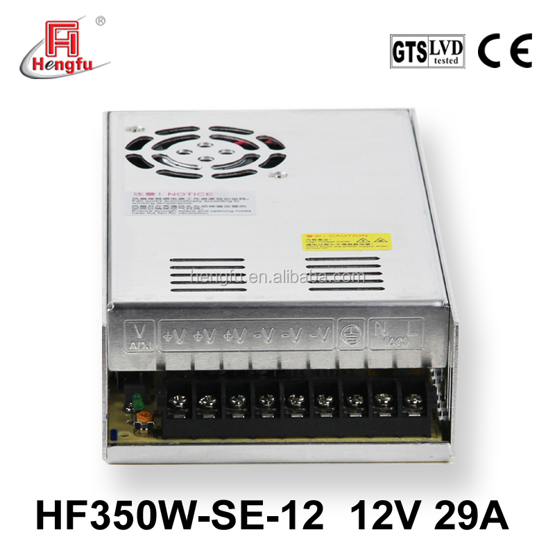 Hengfu power supply HF350W-SE-12 economical single output switching power supply with CE approval