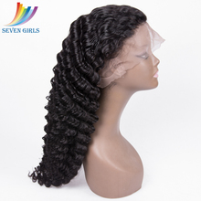 Factory Direct Price 100% Virgin European Human Hair Glueless Full Lace 100% Human Hair Deep Wave Wig With Baby