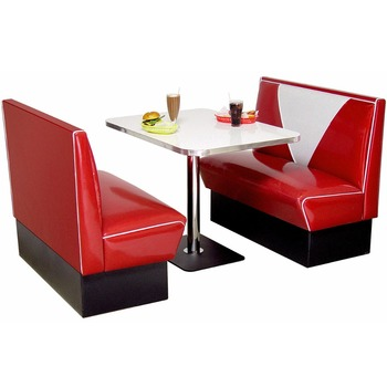 Delicieux Retro Furniture Diner Booth Hollywood Two Seater Set Restaurant Booth Tables