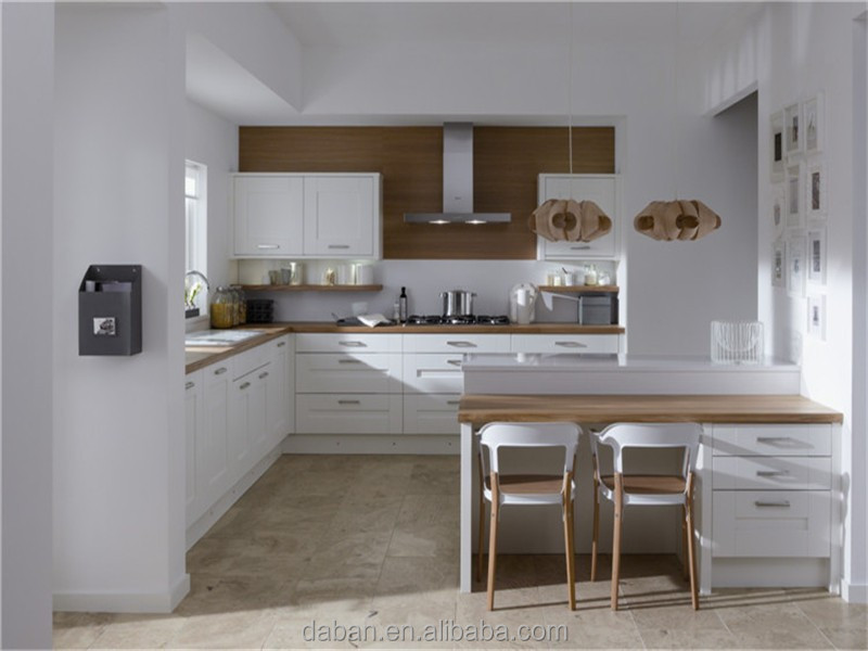 2015 White European Style Pvc Kitchen Design From High Quality China