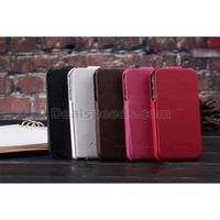 KLX Bingqing Series Litchi Grain Genuine Leather Vertical Flip Case for iPhone 4s 4