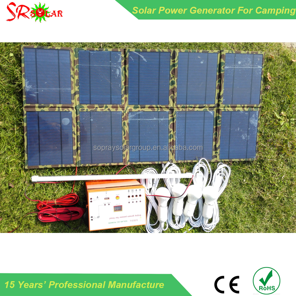 10w/20w/30w/50w/40w 2012 Portable Solar Lighting System For Outdoor Camping