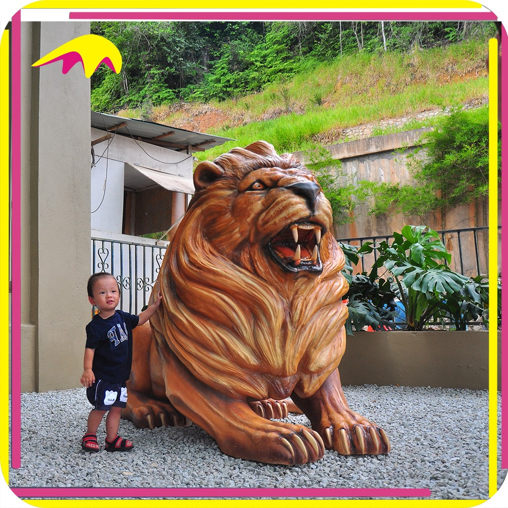 KANO1184 Theme Playground Realistic Marble Lion Statue