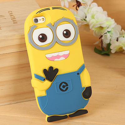 3D Cartoon Silicone Despicable Me Minions Cover Case for iphone 6 4.7inch iphone6,100pcs/lot