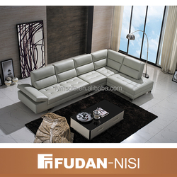 New style indoor furniture leather corner sofa set designs 2016