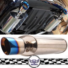535mm Car Mufflers Titanium Burnt Blue Exhaust Tips
