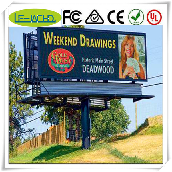 three sided rotating advertising outdoor billboard led panel 30x120 indoor full color flexible led display