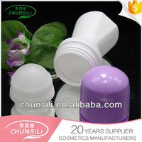cosmetic packinging empty 50ml plastic roll on chemical empty bottle plastic