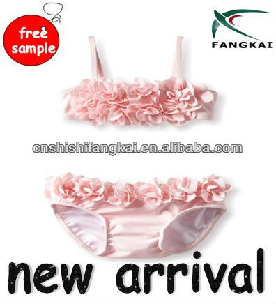 newest hot sale Baby-Girls Infant Blooming Roses Swim Bikin