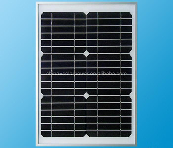 10W 15W 20W 18V Mono Crystalline Cell Solar Panel
