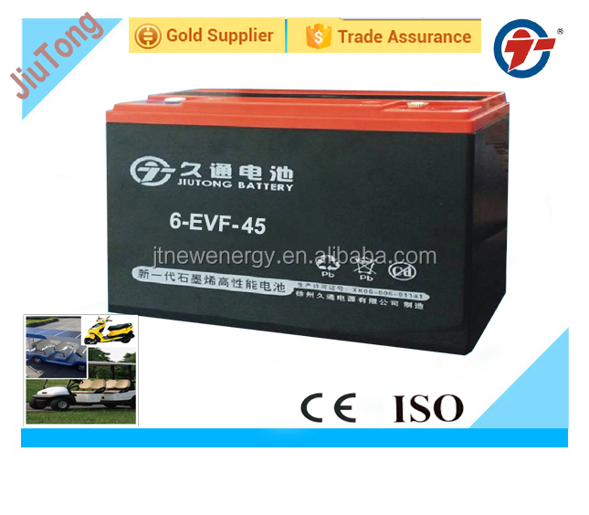 6-EVF-45AH deep cycle Electric tricycle battery/GEL battery for golf car