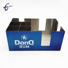 Factory Wholesale Metal bar caddy Stainless Steel Rectangle Tissue Box Design
