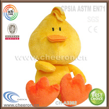 Funny squeeze chicken toy playfull plush yellow chicken toys