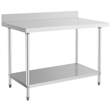 Commercial stainless steel work table food preparation tables restaurant worktable