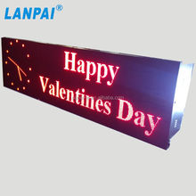 Alibaba express high quality P10 outdoor led moving message display sign
