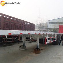 China made heavy load twin axle trailer 40ft flatbed trailer low price