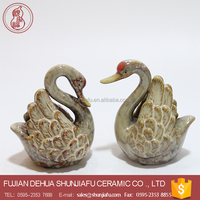 Home Decoration Ceramic Swan Statue ,Decorative Swan