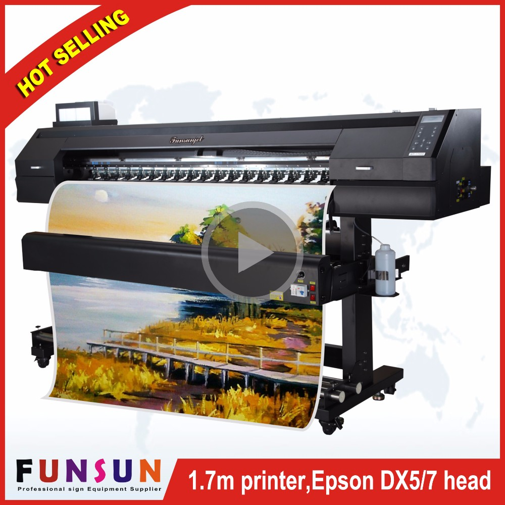 Hot selling Water transfer printing film eco solvent Funsunjet FS1700K 1.7m wide format printer