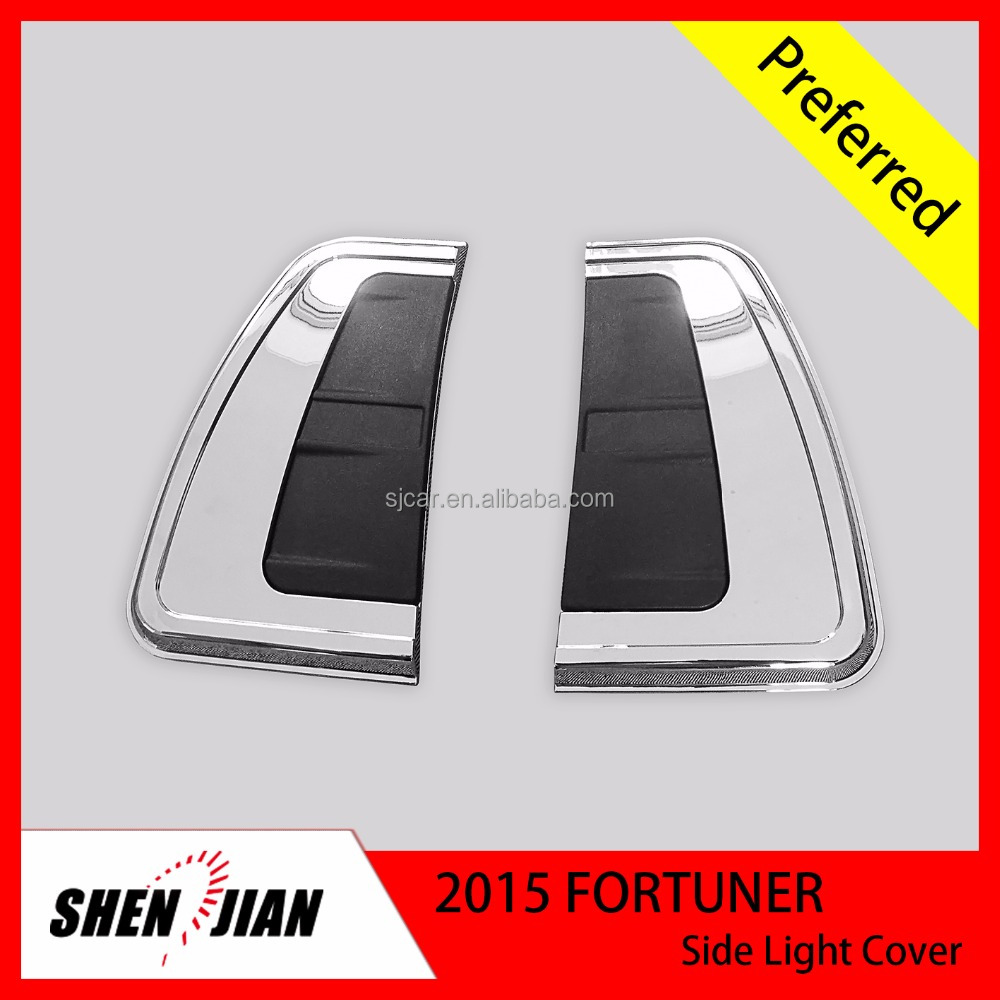 Car Exterior Accessories for Toyota Fortuner 2015 Side light cover From Factory Direct Supply Car Exterior Accessories