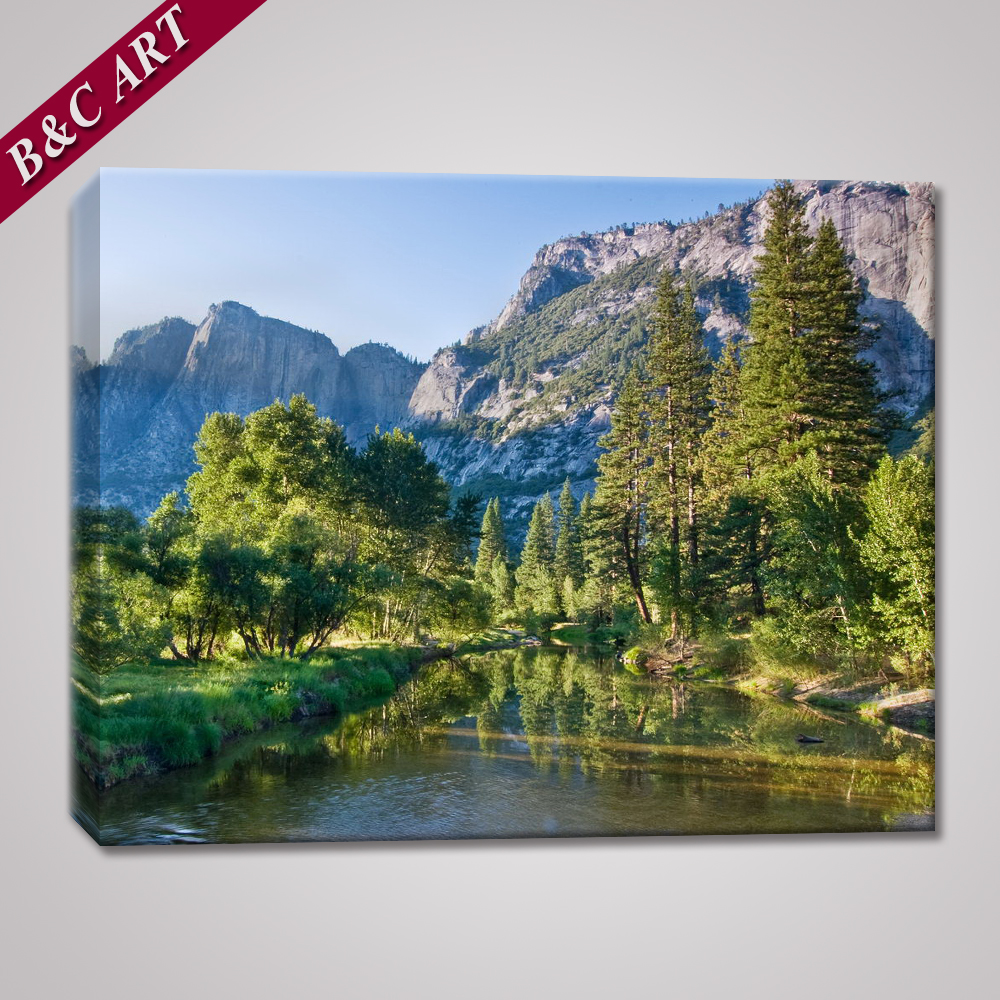 Beautiful Scenery Wall Painting Fresh Forest Print On Canvas