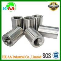 reinforcing steel bar coupler, long round reinforcing rebar coupler