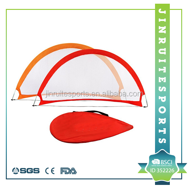 Portable Pop-Up Soccer Goals, Set of 2, With Cones and Case (Choose from 2.5', 4' and 6' sizes)